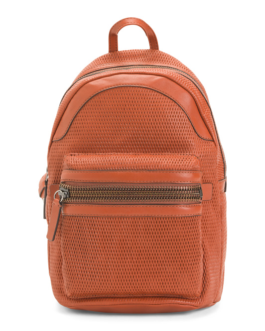 Lena Perforated Leather Backpack