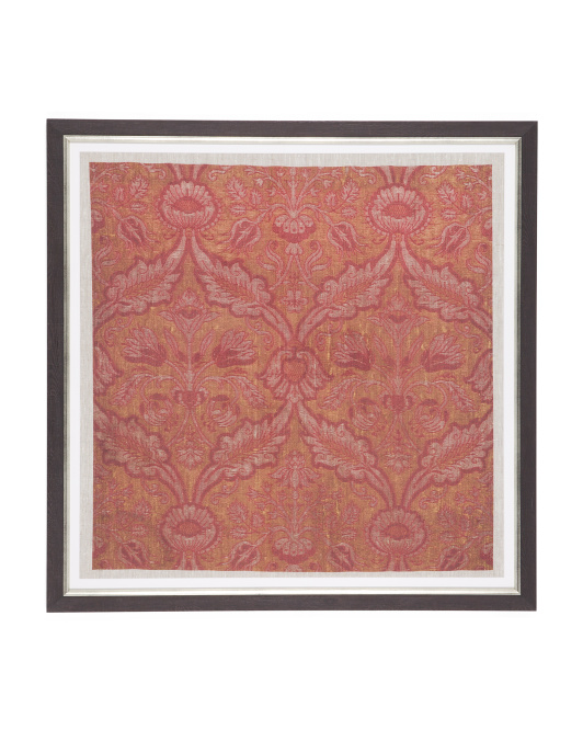 27x27 Ancient Brocade Printed Linen Wall Art