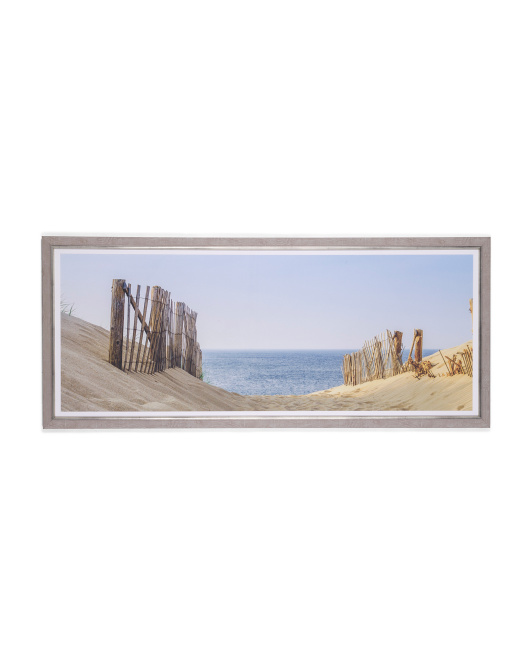 49x19 Beach Path Print Wall Art On Lithographic Paper
