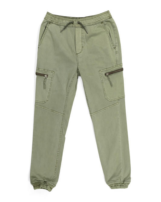 Big Boys Stretch Sateen Joggers