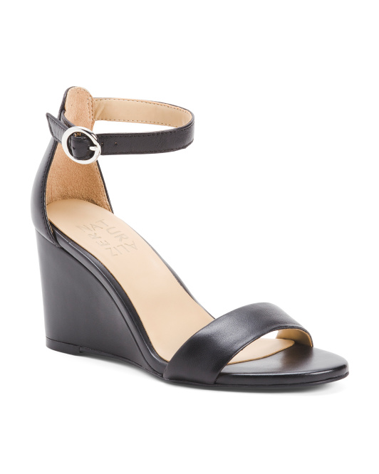 Comfort Wedge Leather Sandals