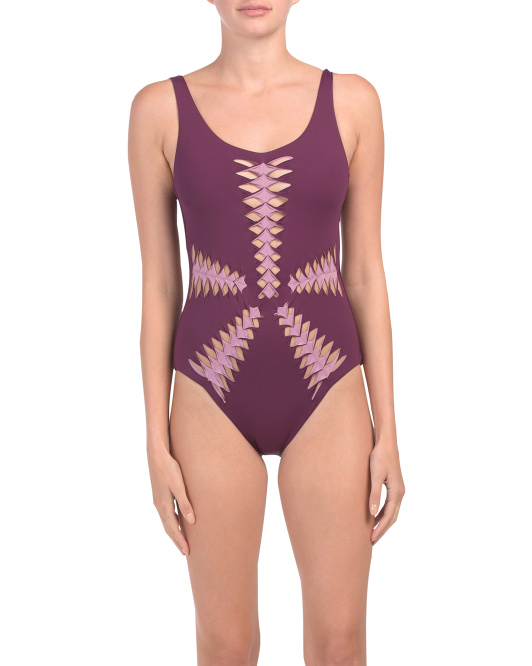 Origami Cutout One-piece Swimsuit