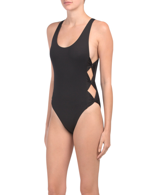 Bow Tie High Leg One-piece Swimsuit