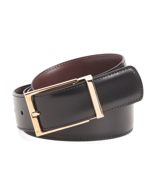 Made In Italy Reversible Leather Belt