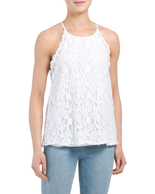 Made In Italy Sleeveless Lace Top