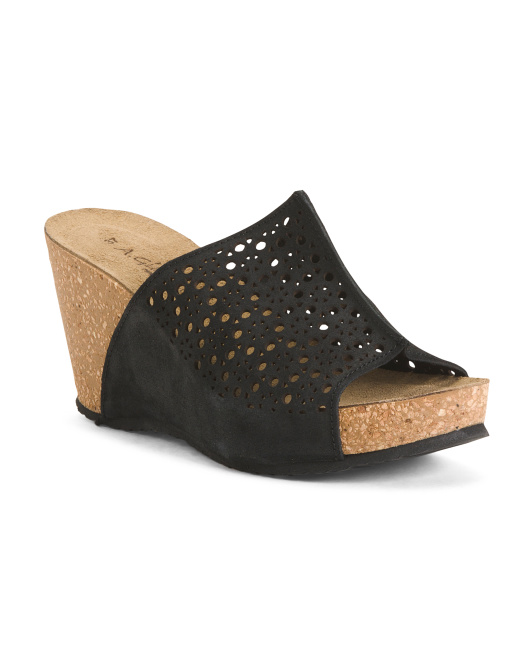 Made In Italy Perforated Single Band Wedges