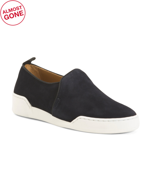 Made In Italy Suede Fashion Slip On Sneakers