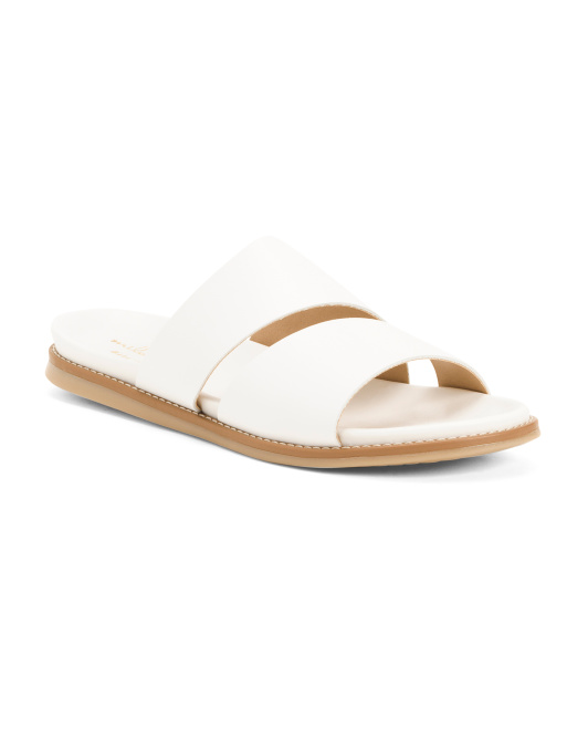 Made In Italy Asymmetrical Flat Sandals