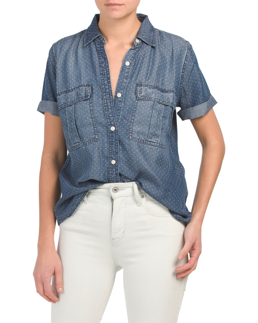 The Amabel Short Sleeve Chambray Shirt
