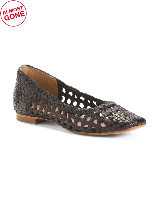 Made In Spain Woven Leather Flats