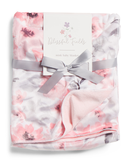 Raina Floral Baby Blanket