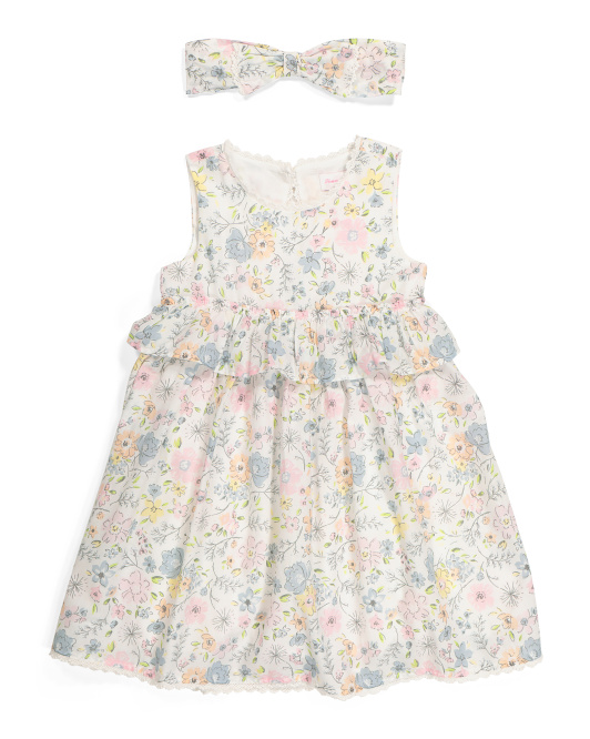 Toddler Girls Flower Ruffle Dress