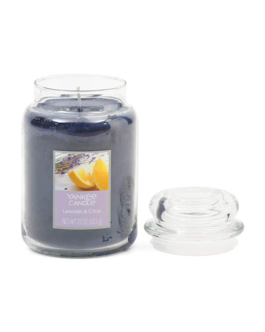 Made In Usa 22oz French Lavender And Lemon Large Jar Candle