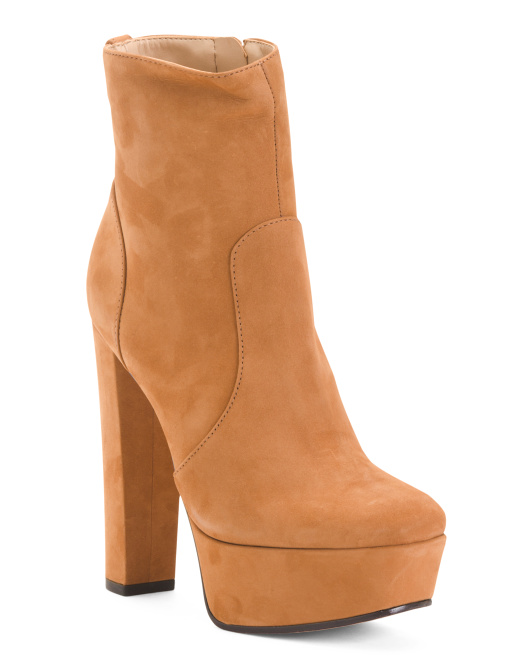 Made In Brazil Platform Suede Booties