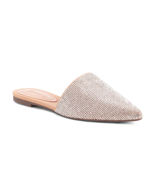 Made In Brazil Embellished Pointy Toe Mules
