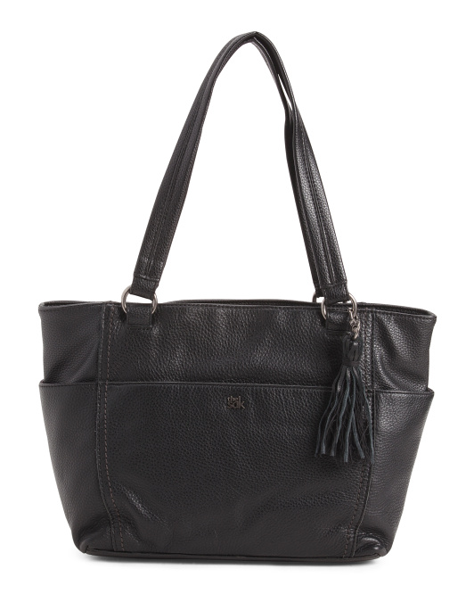 Ashby Multi Pocket Leather Tote
