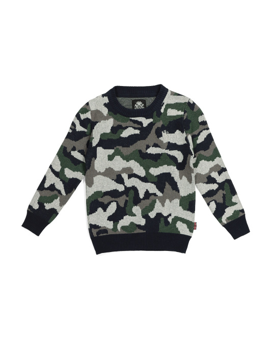 Little Boys Camo Sweater