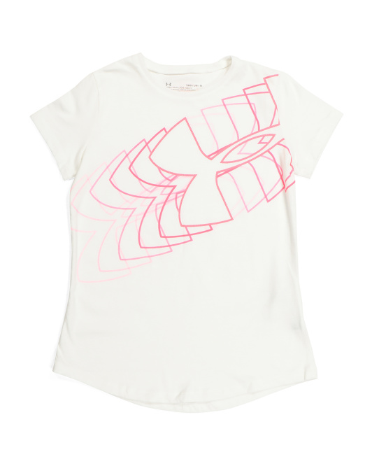 Girls Linear Logo Top