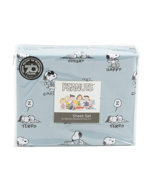 Snoopy Different Emotion Sheet Set