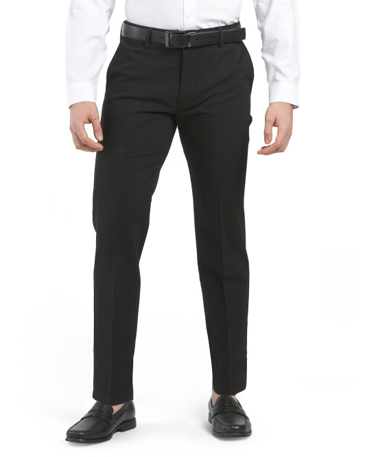 Signature Stretch Slim Flat Front Twill Pants