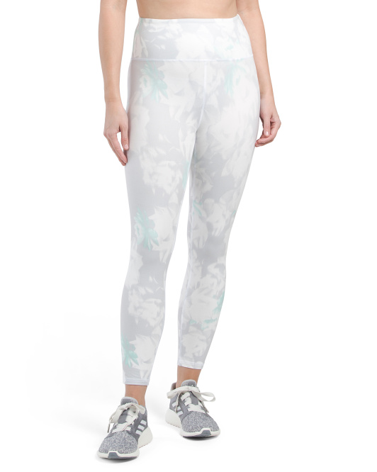 High Waist Camo Capri Leggings