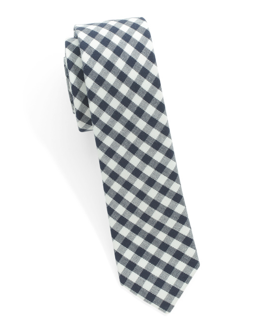 Gingham Shad Cotton Tie