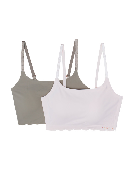 2pk Scallop Trim Laser Lounge Bras
