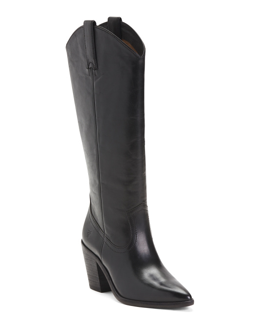Heel High Leather Boots