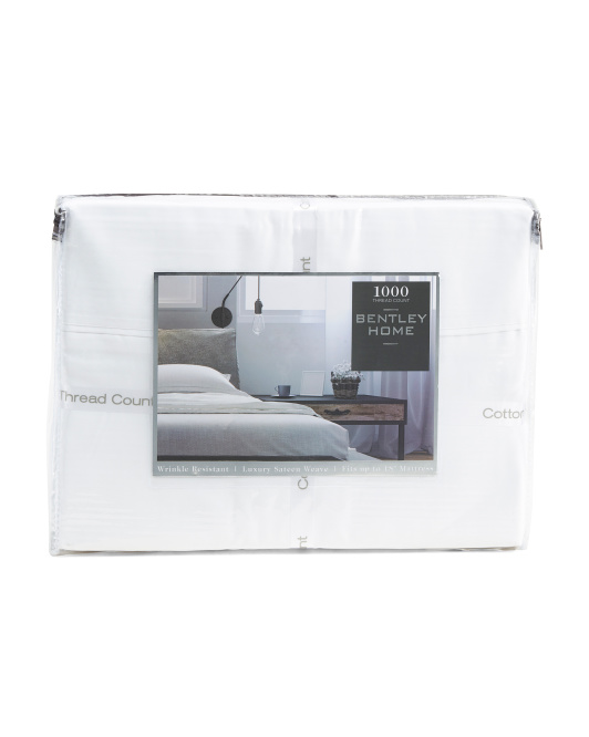 4pc 1000tc Solid Sateen Sheet Set