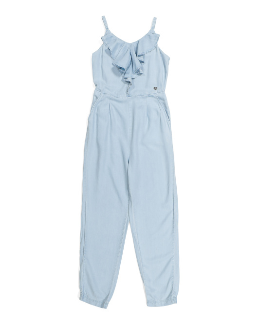Big Girls Chambray Jumpsuit