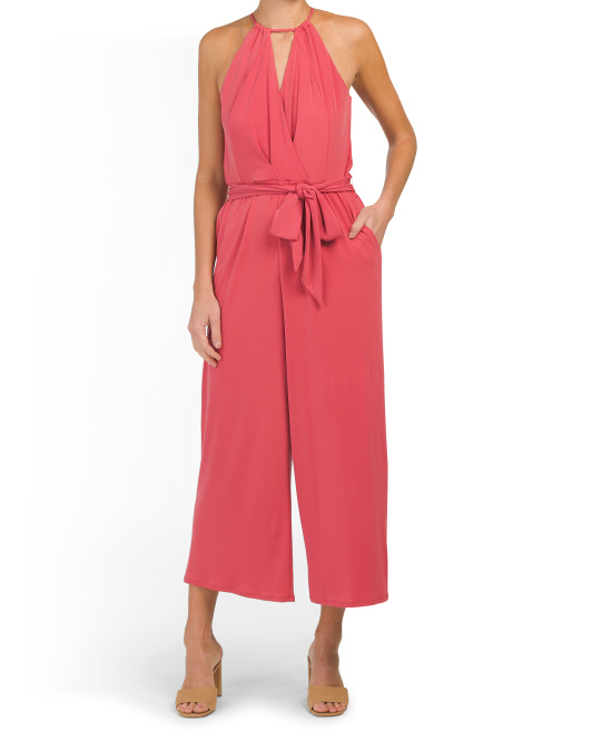 Cross Halter Neck Jumpsuit
