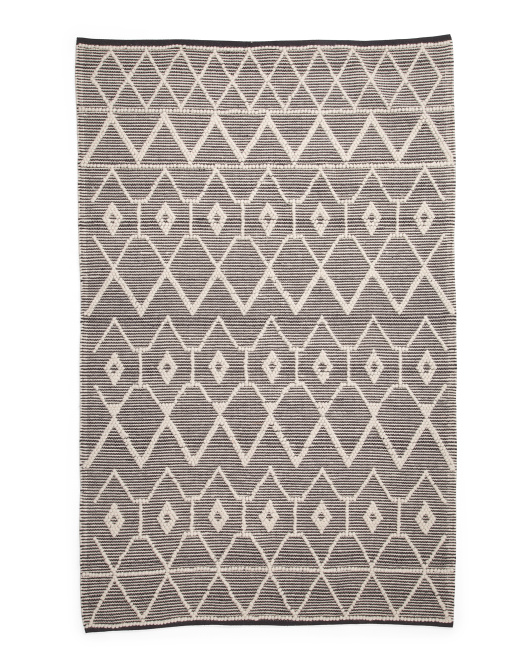 5x8 Loop Textured Area Rug