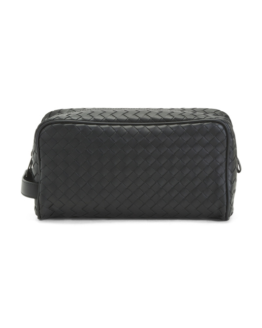 Made In Italy Leather Toiletry Case