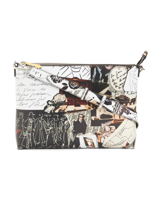 Made In Italy Karl Collage Leather Crossbody