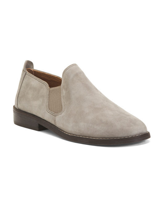 Suede Slip On Shoes