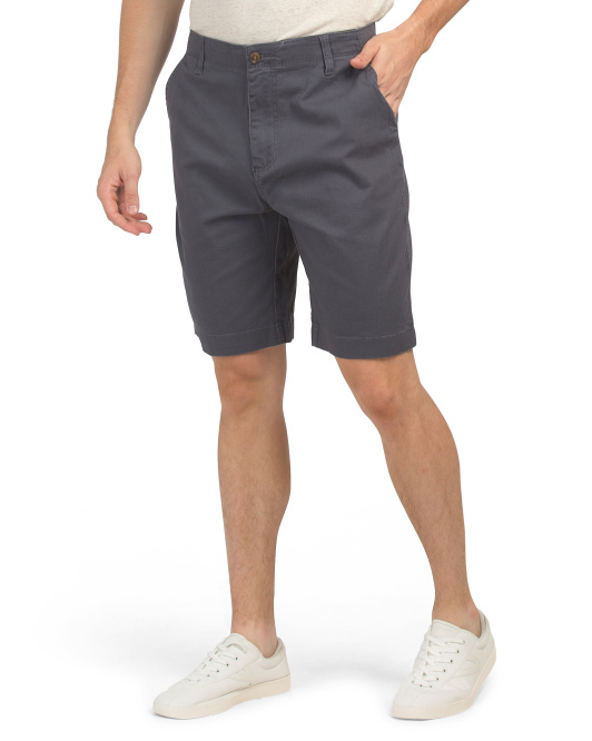Glitch Flex Stretch Twill Flat Front Shorts