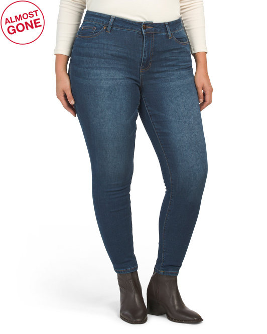 Plus High Rise Recycled Skinny Denim Jeans