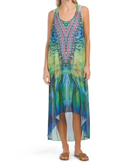 Luxury Hi Low Cover-up Beach Dress