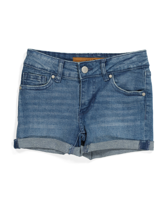 Big Girls Markie Rolled Denim Shorts