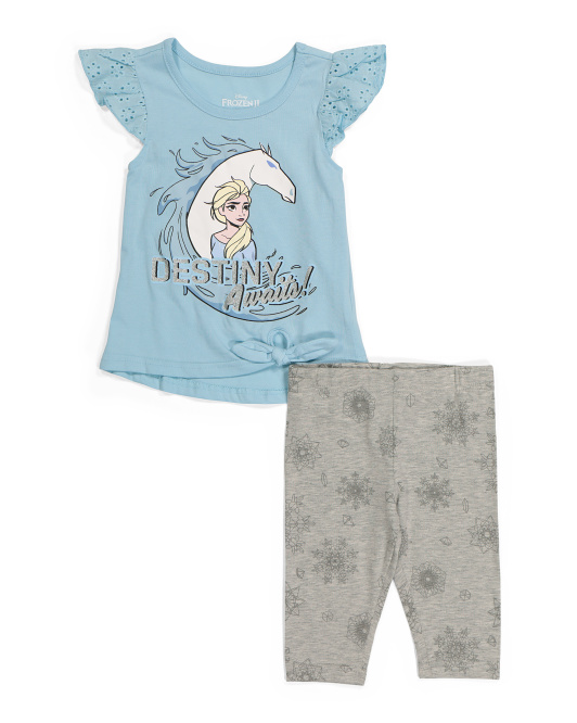 Toddler Girls 2pc Frozen Legging Set