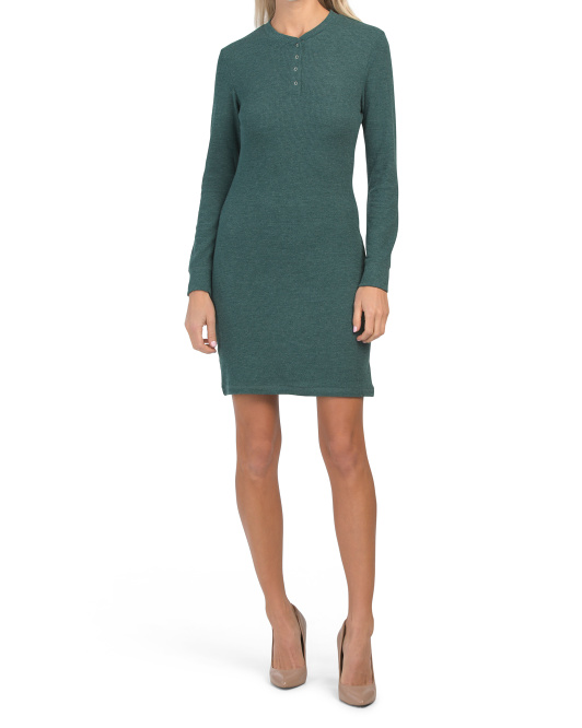 Thermal Henley Dress