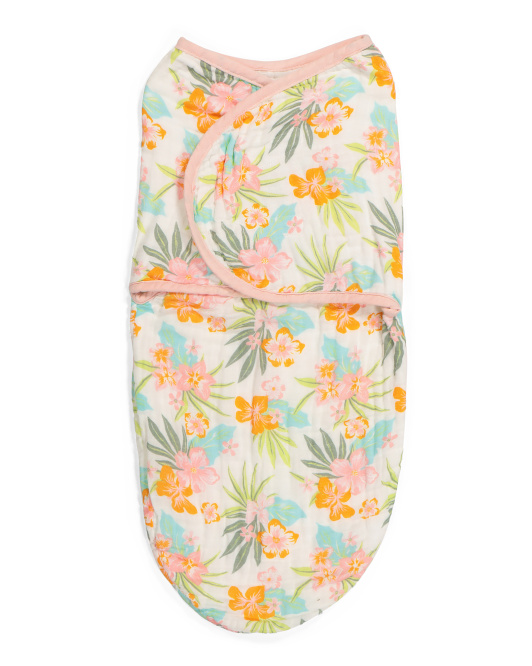 Baby Floral Muslin Swaddle