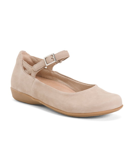 Leather All Day Comfort Mary Jane Ballet Flats