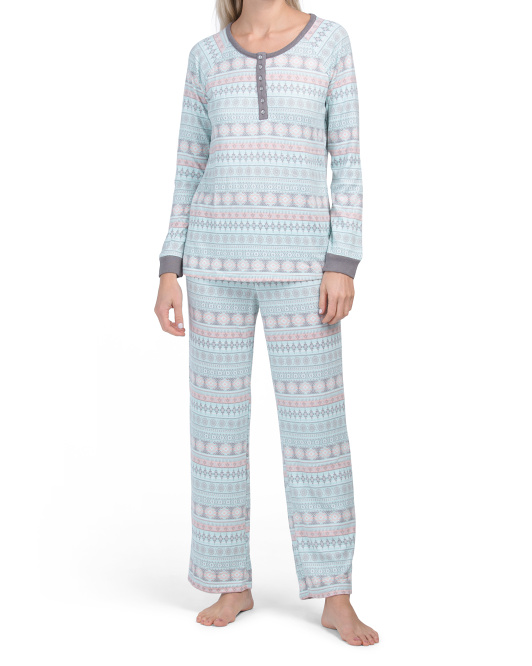 Fairisle Pajama Set