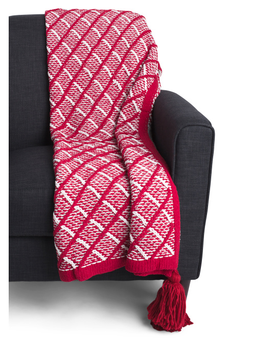 Kate Diamond Throw With Tassels