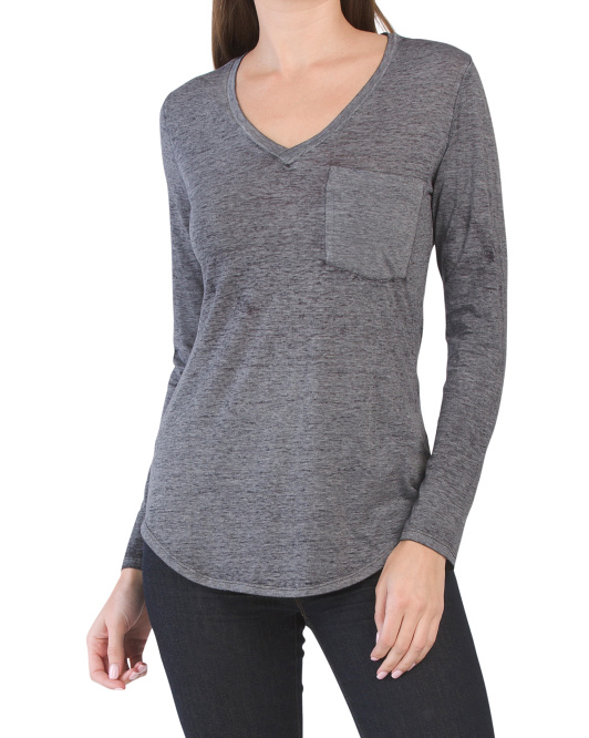 Molly Long Sleeve Burn Out Top