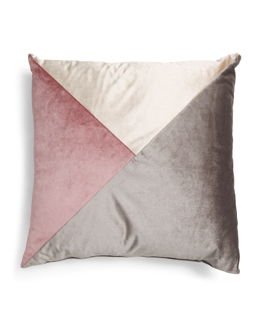Made In Usa 22x22 Velvet Geometric Pillow