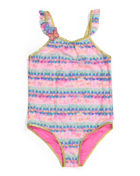 Big Girls Butterfly One-piece Swimsuit