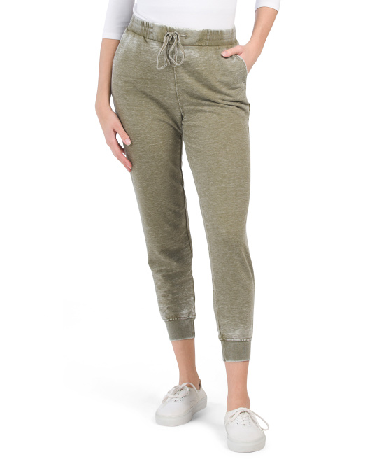French Terry Bottom Burnout Joggers