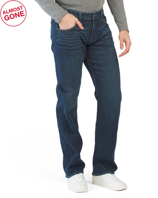 Austyn Squiggle Relaxed Straight Jeans
